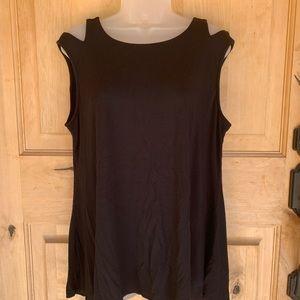Cupio Sleeveless Black Tank Top Size XL